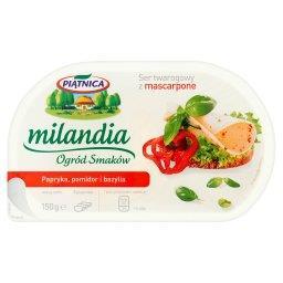 Milandia Ogród Smaków Ser twarogowy z mascarpone papryka pomidor i bazylia