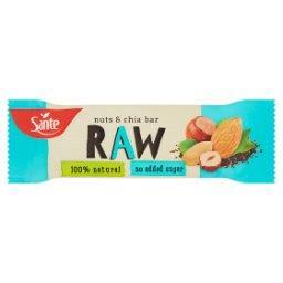 Raw Baton owocowy z orzechami i nasionami chia