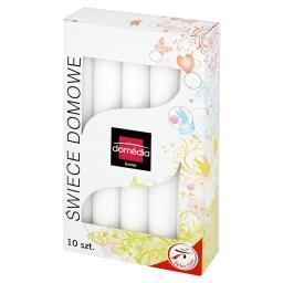 Świece domowe białe 20 mm/170 mm czas palenia 6 h 10 sztuk