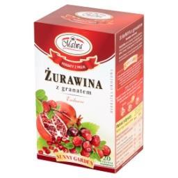 Sunny Garden Żurawina z granatem Exclusive Herbatka owocowo-ziołowa 40 g (20 torebek)
