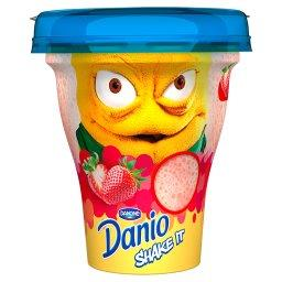 Danio Shake It Napój jogurtowy o smaku truskawkowym