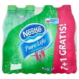 Pure Life Gazowana woda źródlana 8 x 0,5 l