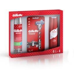 Gillette Maszynka do golenia+ 1 Ostrze + Gillette Series Żel do golenia + Old Spice Żel pod prysznic