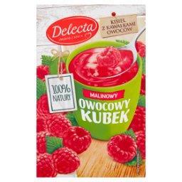 Owocowy kubek Kisiel o smaku malinowym