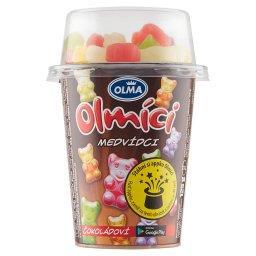 Olmici jogurt czekoladowy/waniliowy z żelkami 125g mix