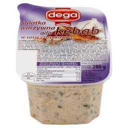 Sałatka warzywna a'la kebab w sosie czosnkowym