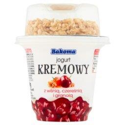 Jogurt kremowy z wiśnią czereśnią i granolą