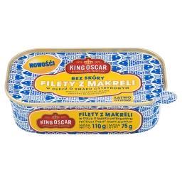 Filety z makreli w oleju o smaku cytrynowym