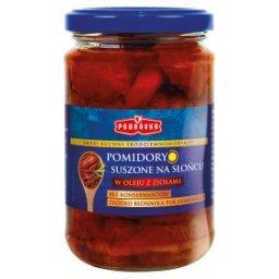 Pomidory suszone na słońcu w oleju z ziołami