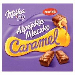 Alpejskie Mleczko Caramel Pianka o smaku waniliowym ...