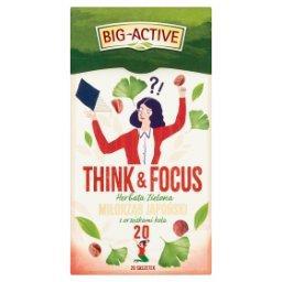 Think & Focus Herbata zielona miłorząb japoński z orzeszkami kola 30 g