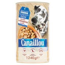 Karma dla dorosłych psów kawałki z dziczyzną w sosie