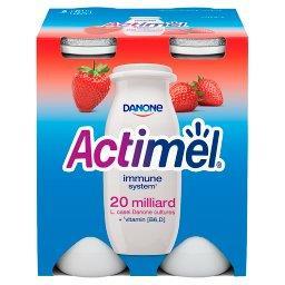 Actimel Truskawka Mleko Fermentowane 400 g (4 sztuki...