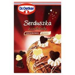 Serduszka z czekolady deserowej i białej  (72 sztuki...