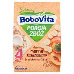 Porcja Zbóż Kaszka mleczna manna brzoskwinia banan p...