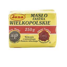 Masło extra wielkopolskie 82% tłuszczu 250 g