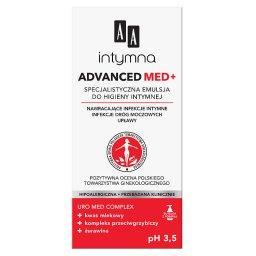 Intymna Advanced Med+ specjalistyczna emulsja do higieny intymnej Advanced pH 3,5 300 ml