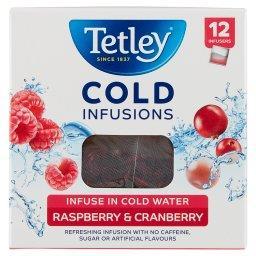 Cold Infusions Herbatka ziołowo-owocowa aromatyzowana malina żurawina  (12 torebek)