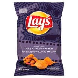 Chipsy ziemniaczane o smaku sensacyjnie pikantny kurczak