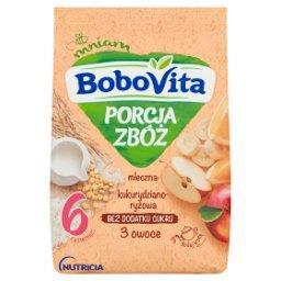 Porcja Zbóż Kaszka mleczna kukurydziano-ryżowa 3 owo...