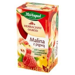 Herbaciany ogród Malina z pigwą Herbatka owocowo-ziołowa 54 g (20 saszetek)