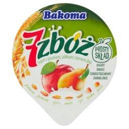 7 zbóż Jogurt z gruszkami jabłkiem i ziarnami zbóż