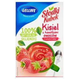 Słodki Kubek Kisiel z kawałkami owoców truskawka malina