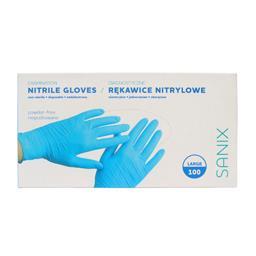 Rękawice nitrylowe niepudrowane rozmiar Large 100 sztuk