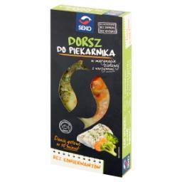 Dorsz do piekarnika w marynacie ziołowej z warzywami
