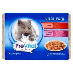 Vital Pack Karma dla kotów z wołowiną i z królikiem i indykiem w galaretce