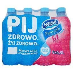 Pure Life Niegazowana woda źródlana 8 x 0,5 l