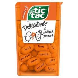 Drażetki o smaku pomarańczowym
