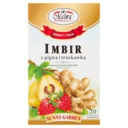 Sunny Garden Exclusive Imbir z pigwą i truskawką Herbatka ziołowo-owocowa 40 g (20 torebek)