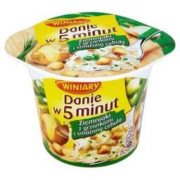 Danie w 5 minut Ziemniaki z grzankami i smażoną cebulą