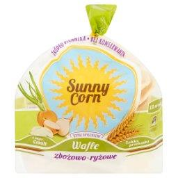 Sunny Corn Wafle zbożowo-ryżowe o smaku cebuli  (12 sztuk)