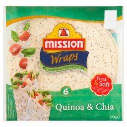 Wraps Quinoa & Chia Tortilla pszenna  (6 sztuk)