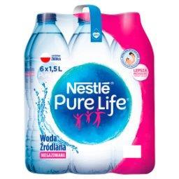 Pure Life Niegazowana woda źródlana 6 x 1,5 l