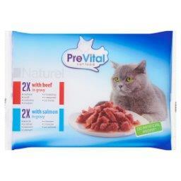 Naturel Pełnoporcjowa karma dla kotów z wołowiną i łososiem w sosie