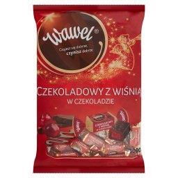 Czekoladowy z wiśnią w czekoladzie Cukierki w czekoladzie