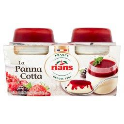 Deser mleczny Panna Cotta + Sos z 5 rodzajów czerwonych owoców  (2 desery)