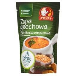 Zupa grochowa z kiełbasą wieprzową