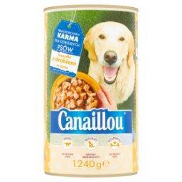 Karma dla dorosłych psów kawałki z drobiem w sosie
