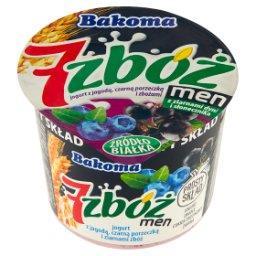 7 zbóż men Jogurt z jagodą czarną porzeczką i ziarna...