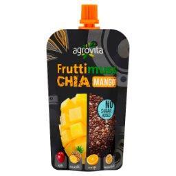 Fruttimuss Chia Puree jabłkowe z mango nasionami chia ananasem pomarańczą i marakują