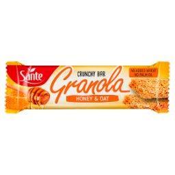 Chrupiący baton granola owsiany z miodem