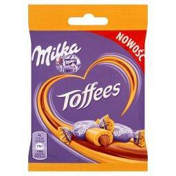 Cukierki toffi z nadzieniem o smaku czekoladowym z czekoladą mleczną z mleka alpejskiego
