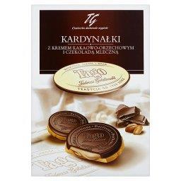 Kardynałki Herbatniki z kremem kakaowo-orzechowym i czekoladą mleczną