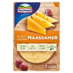 Ser żółty w plastrach Maasdamer  (8 sztuk)
