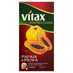 Inspirations Papaja & Pigwa Herbatka owocowo-ziołowa 40 g (20 torebek)