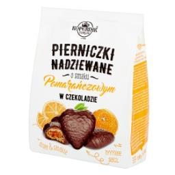 Pierniczki nadziewane w czekoladzie o smaku pomarańczowym